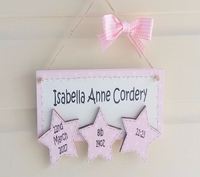 Personalised New Baby Keepsake Gift With 3 Stars